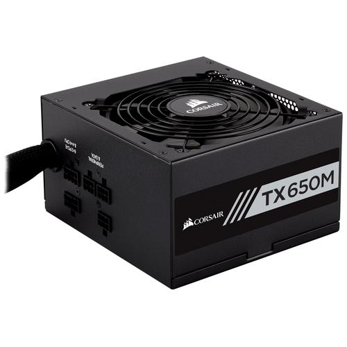 Corsair TX650M power supply unit 650 W ATX Zwart productfoto