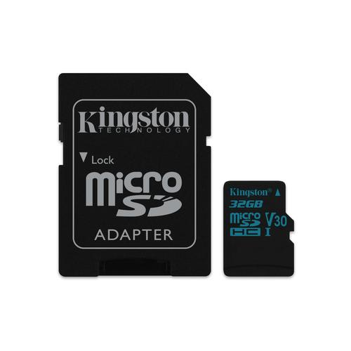 Kingston Technology Canvas Go! flashgeheugen 32 GB MicroSDHC Klasse 10 UHS-I productfoto