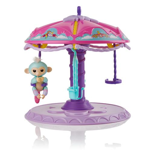 WowWee Fingerlings Carrousel speelset + 1 baby aapje Abigail productfoto