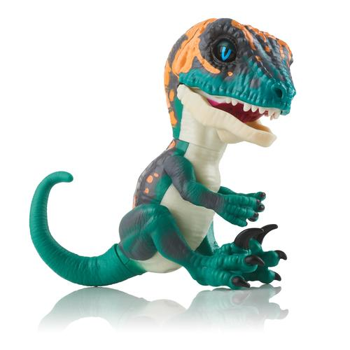 WowWee Fingerlings Untamed Baby Raptor Fury - blauwe dino productfoto