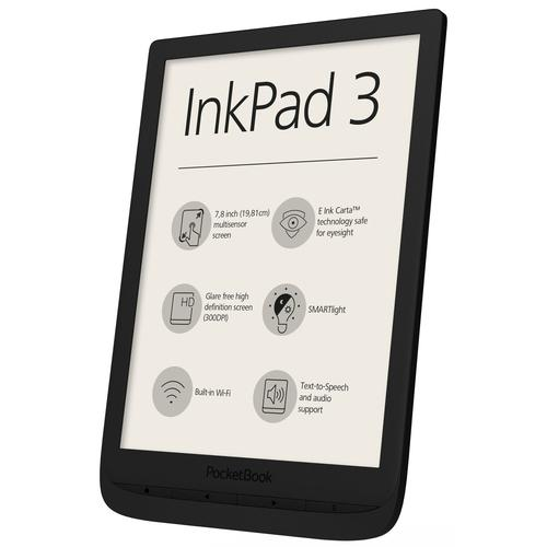 Pocketbook InkPad 3 e-book reader Touchscreen 8 GB Wi-Fi Zwart productfoto