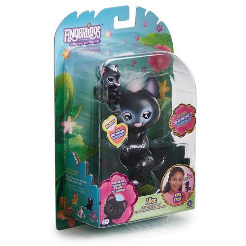 WowWee Fingerlings Light-Up Baby Zwarte Panter en Mini - Allec and Ronni - Robot Panter productfoto
