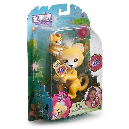 WowWee Fingerlings Light-Up Baby Leeuw en Mini - Sam en Leo - Robot Leeuw productfoto