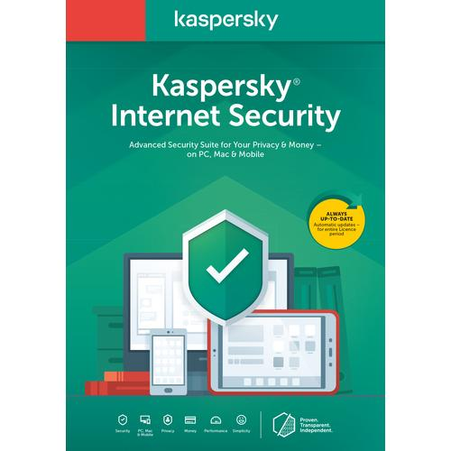 Kaspersky Lab Internet Security 2020 1 licentie 3 apparaten 1 jaar Nederlands productfoto