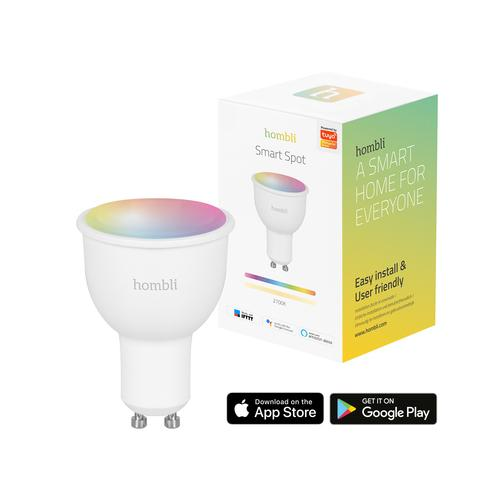 Hombli Smart Spot (4.5W) RGB + WW (GU10) Smart lighting spot Wit Wi-Fi 4,5 W productfoto