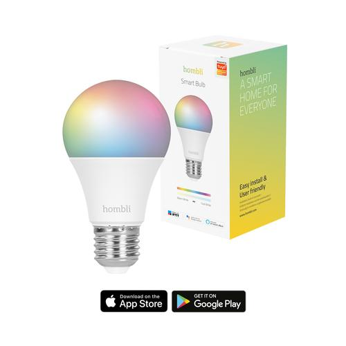 Hombli Smart Bulb (9W) RGB + CCT (E27) Intelligente verlichting Wit Wi-Fi productfoto