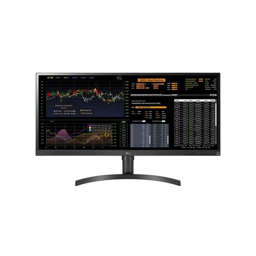 "LG 34CN650W-AC All-in-One PC/workstation 86,4 cm (34"") 2560 x 1080 Pixels Intel® Celeron® 8 GB DDR4-SDRAM 128 GB SSD Windows 10 IoT Enterprise Wi-Fi 5 (802.11ac) All-in-One thin client Zwart productfoto"