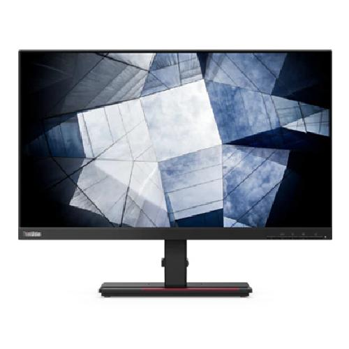 "Lenovo ThinkVision P24q-20 60,5 cm (23.8"") 2560 x 1440 Pixels Quad HD LED Zwart productfoto"