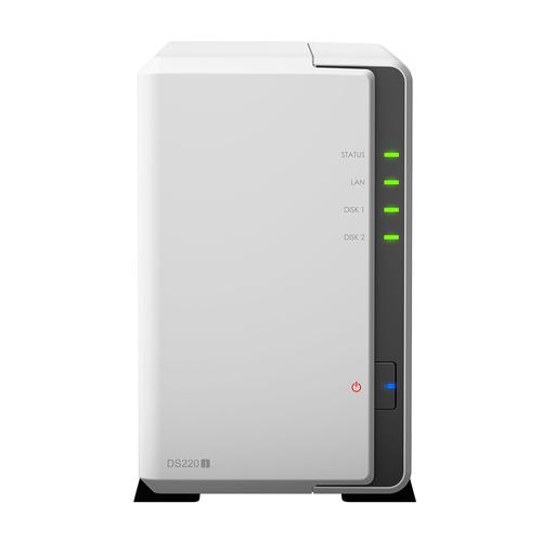 Synology DiskStation DS220j NAS Mini Tower Ethernet LAN Wit RTD1296 productfoto