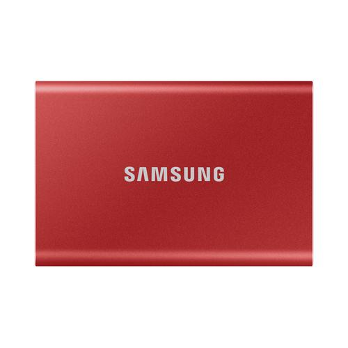 Samsung Portable SSD T7 2000 GB Rood productfoto