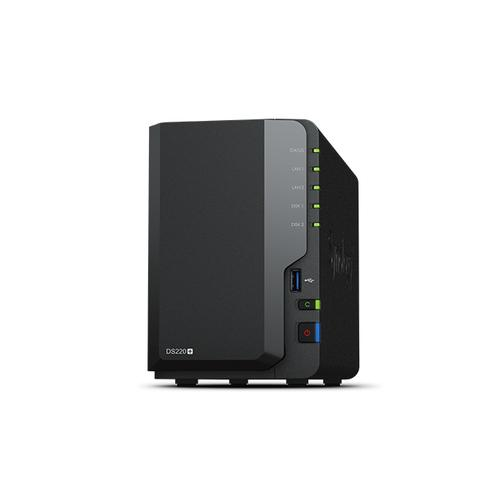 Synology DiskStation DS220+ data-opslag-server NAS Compact Ethernet LAN Zwart J4025 productfoto