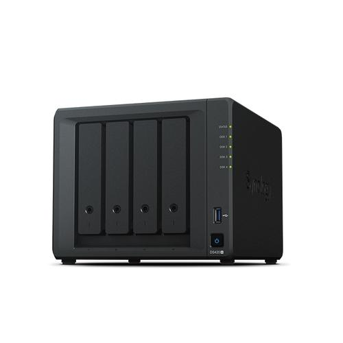 Synology DiskStation DS420+ data-opslag-server NAS Desktop Ethernet LAN Zwart J4025 productfoto