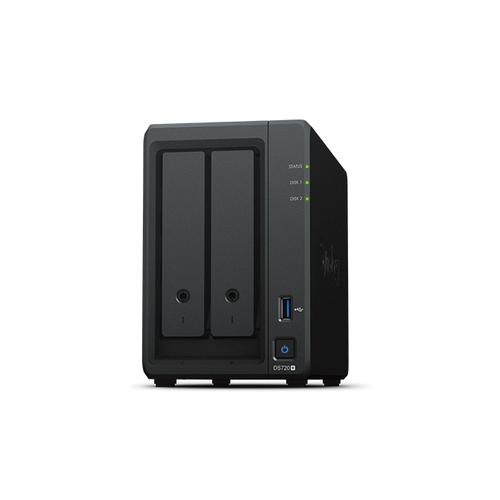 Synology DiskStation DS720+ data-opslag-server NAS Desktop Ethernet LAN Zwart J4125 productfoto