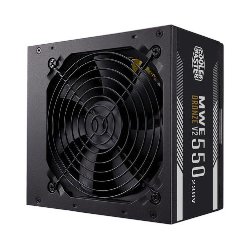 Cooler Master MWE 550 Bronze 230V V2 power supply unit 550 W 24-pin ATX ATX Zwart productfoto