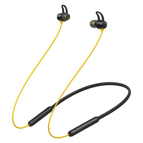 realme Buds Wireless Yellow RMA108 Headset Neckband Geel productfoto