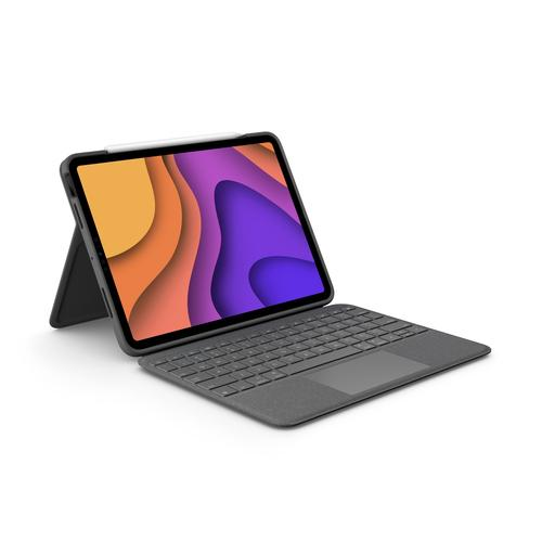 Logitech Folio Touch Grijs Smart Connector AZERTY Frans productfoto