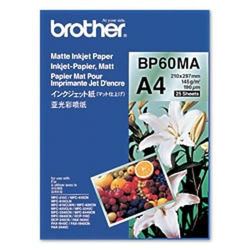 Brother BP60MA Inkjet Paper papier voor inkjetprinter A4 (210x297 mm) Mat 25 vel Wit productfoto